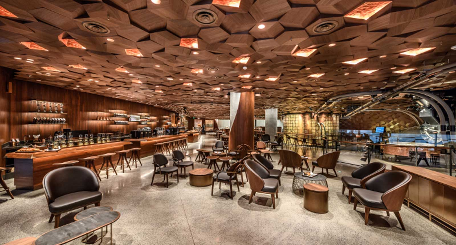 Industry News - 10,000 Walnut Veneer Ceiling Tiles Make Up World
