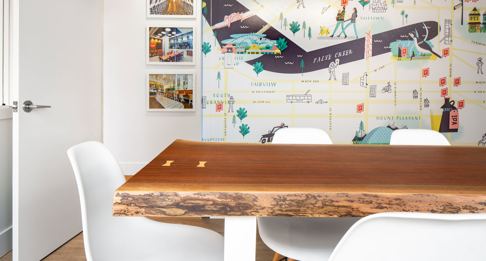 Raw Walnut Log Comes to Life In Instagrammable Office Masterpiece
